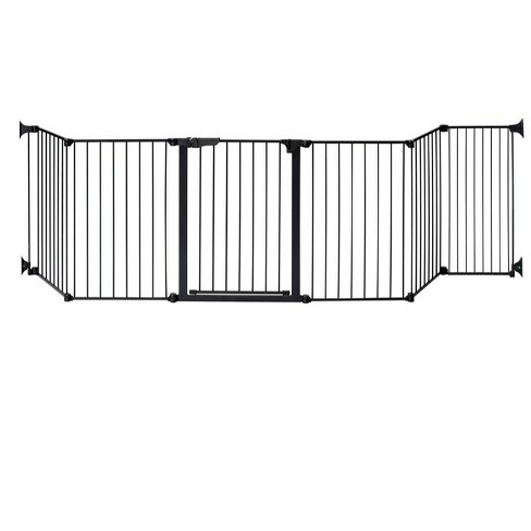 """KidCo Auto Close Hearth Baby Gate with One 24"""" Extension (Total width up to 152"""") - Black - image 1 of 4"""