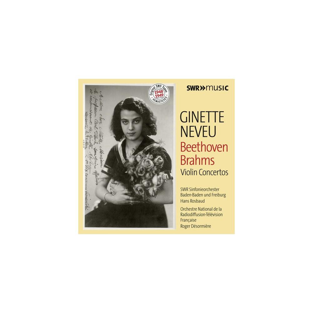 Ginette Neveu - Beethoven/Brahms:Violin Ctos (CD)