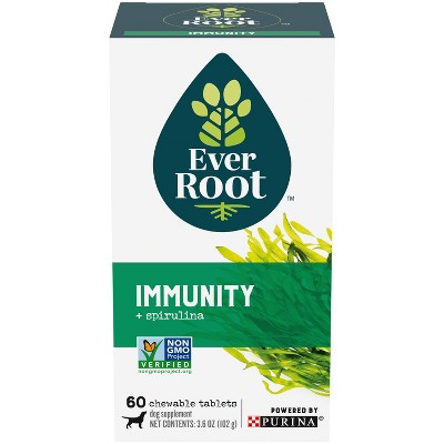 Purina EverRoot Natural, Organic Immunity Supplement Chewable Tablets for Dogs - 60ct