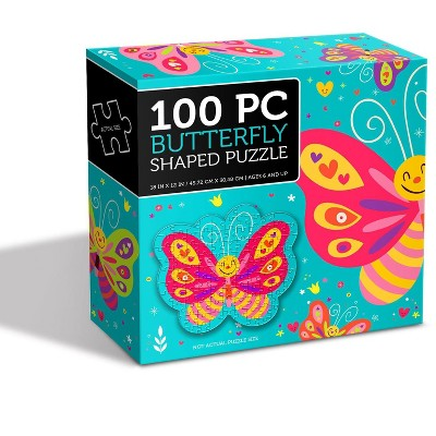 Anker Play Butterfly Shaped 100 Piece Jigsaw Puzzle