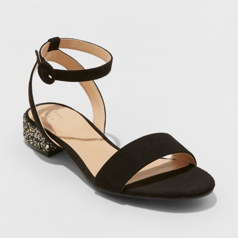Women's Winona Glitter Ankle Strap Sandals - A New Day™ - image 1 of 3
