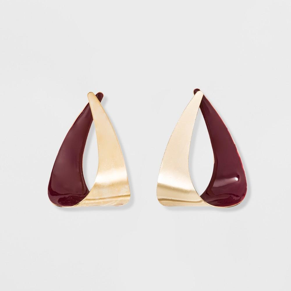 60s -70s Jewelry – Necklaces, Earrings, Rings, Bracelets Open Work Teardrop Shape Metal Drop Earrings - A New Day Gold $7.99 AT vintagedancer.com