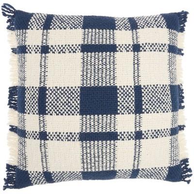 "20""x20"" Oversize Woven Plaid Check Square Throw Pillow - Kathy Ireland Home"