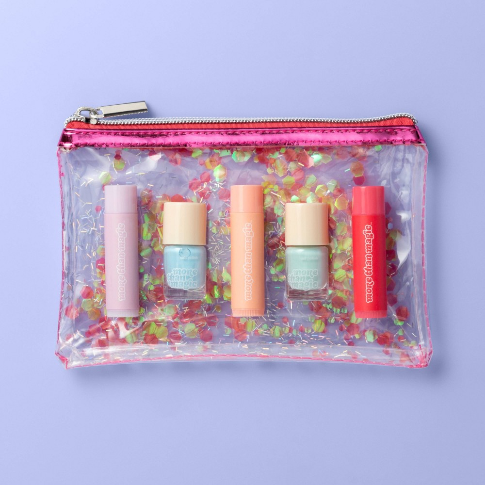 Image of Nail & Lip Set with Makeup Bag - 5pc - More Than Magic