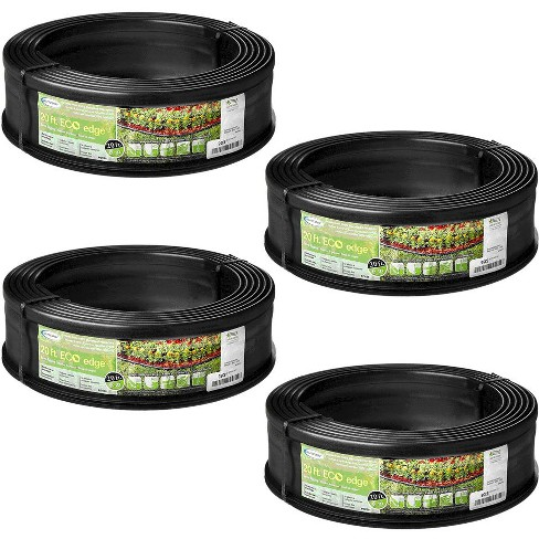 Suncast 5 Eco Edge 20' Plastic Edging Roll with 2 Connectors, 5 inch (4 Pack) - image 1 of 2