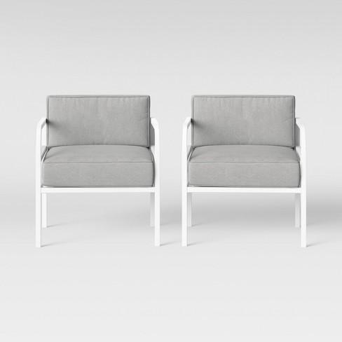 Beacon Hill 2pk Patio Club Chair Gray