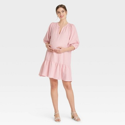 The Nines by HATCH™ Puff 3/4 Sleeve Maternity Dress