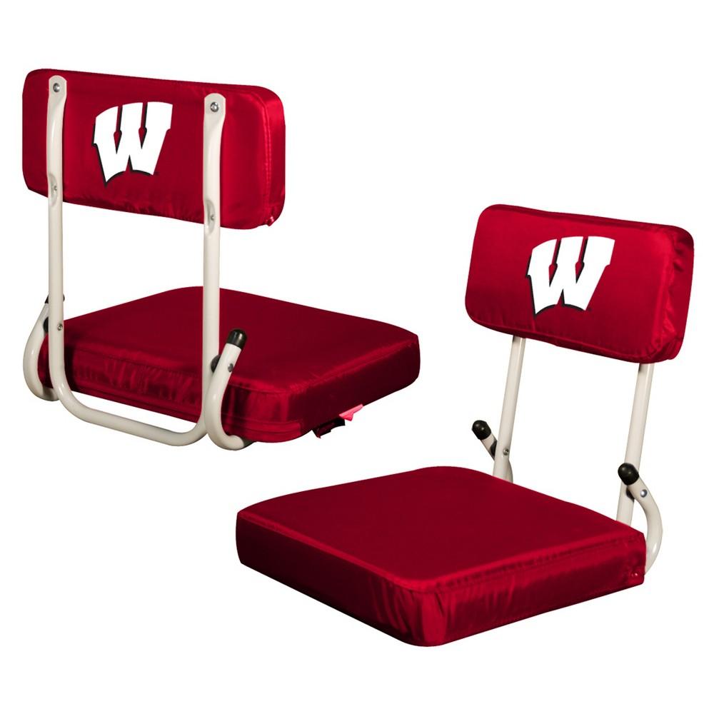 NCAA Wisconsin Badgers Logo Brands Hard Back Stadium Seat