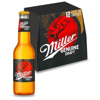 Miller Genuine Draft Beer - 12pk/12 fl oz Bottles