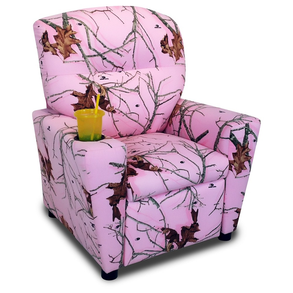Kids Recliner With Cup Holder - Lifestyle Pink - Mossy Oak Nativ Living
