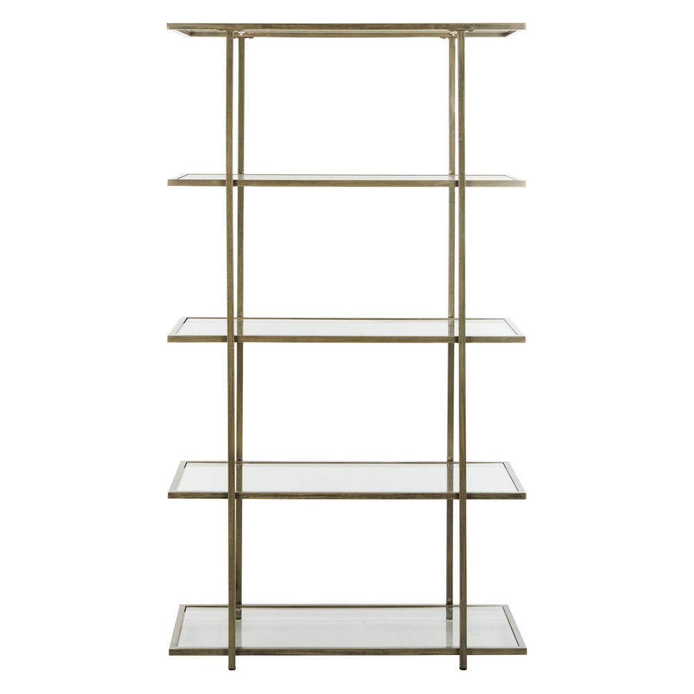Francis 5 Tier Etagere Silver/Clear - Safavieh