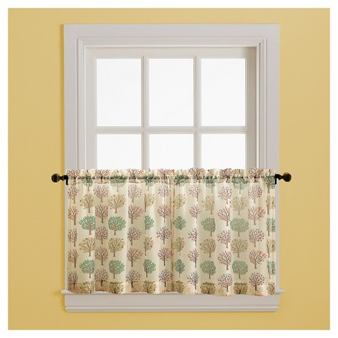 "Curtain Tiers Tan Green Red Tree 36"" - CHF Industries - image 1 of 2"