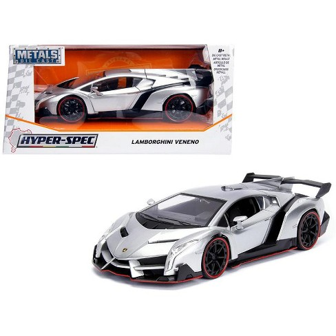 Lamborghini Veneno Candy Silver 1 24 Diecast Model Car By Jada Target