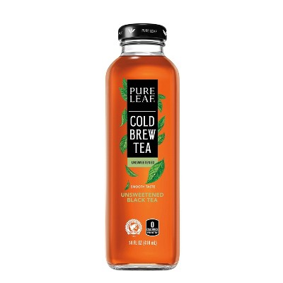 Pure Leaf Cold Brew Unsweetened Tea Beverage - 14 fl oz Glass Bottle