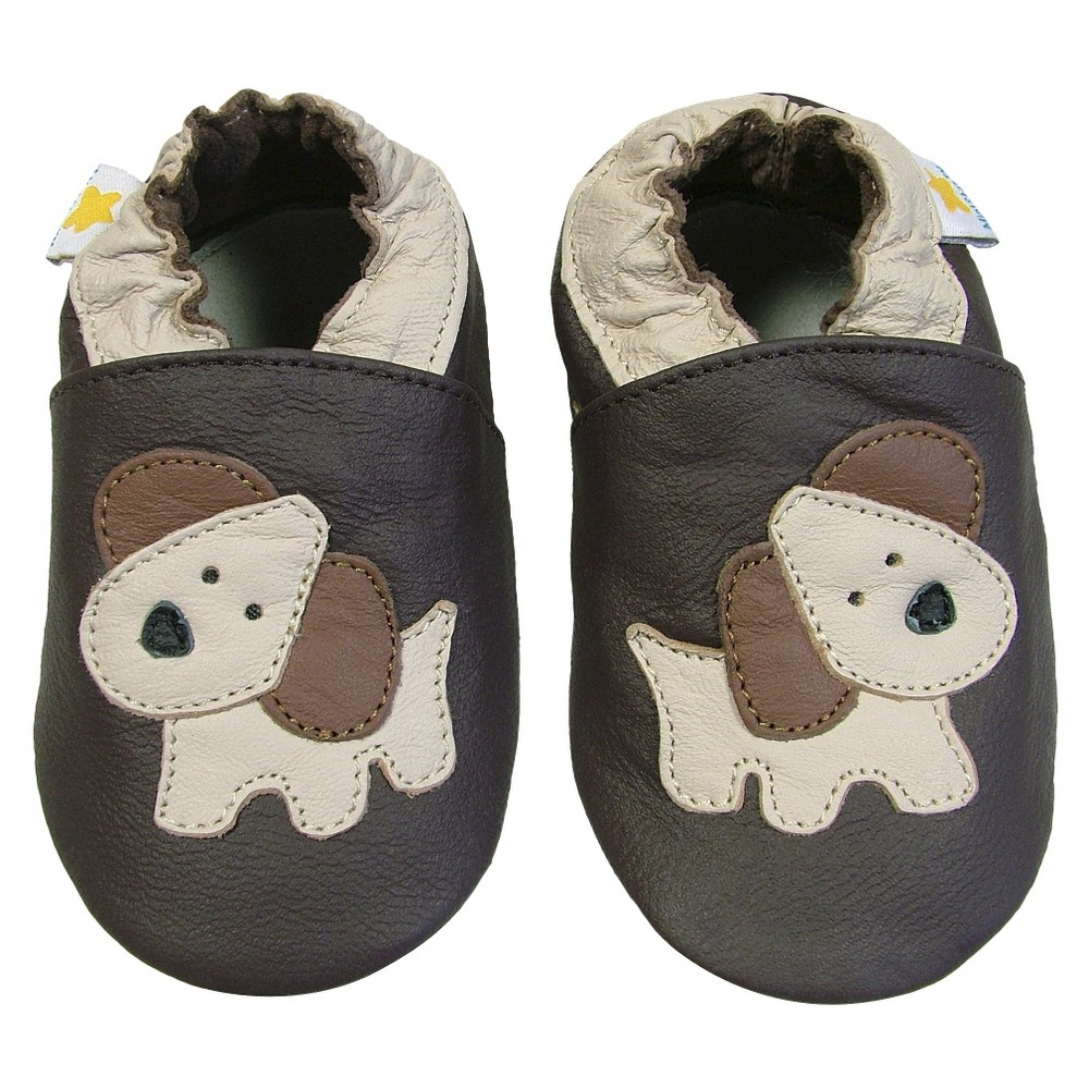 Ministar Baby Boys' Puppy Shoe - Chocolate (Brown) Small