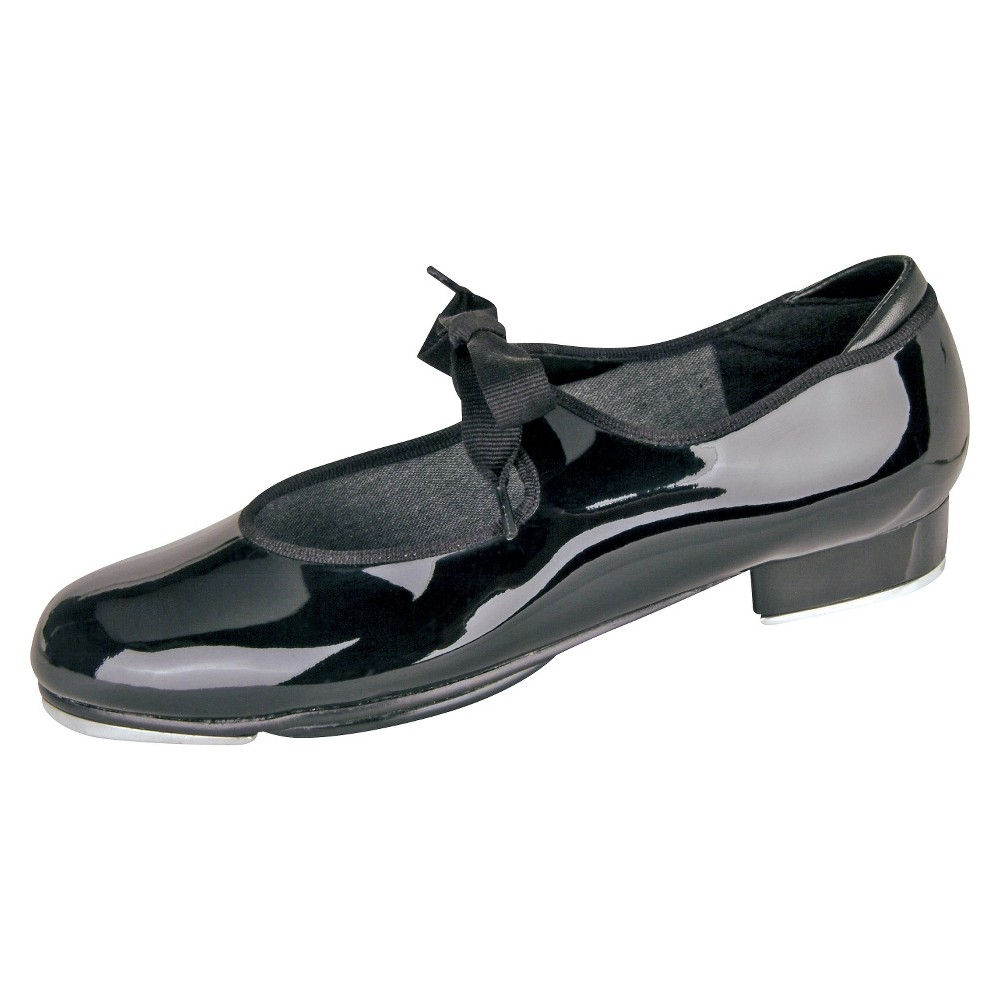 Toddler Girls' Danshuz Wide Width Comfort Tap - Black 12W, Size: 12 Wide