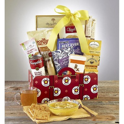 1-800-Baskets Get Well Gift Basket with Campbell's Chicken Noodle Soup and Lemon Tea - Grand