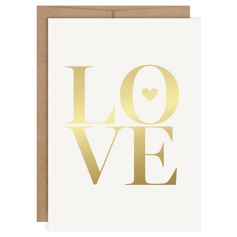 """Love"" Foil Art Card Gold - image 1 of 4"