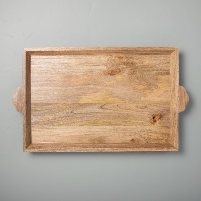 "16"" x 24"" Carved Wood Tray - Hearth & Hand™ with Magnolia"