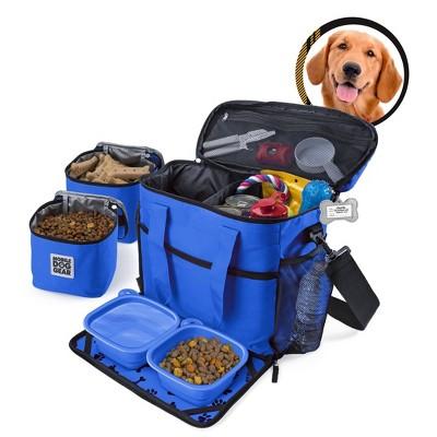 Overland Travelware - Medium/Large Dog - Week Away Bag - Royal Blue
