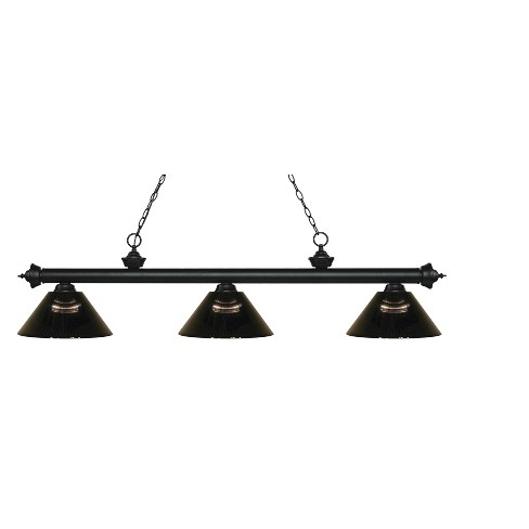 Billiard Ceiling Lights with Smoke Glass (Set of 3) - Z-Lite - image 1 of 1