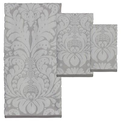 Heirloom Bath/Hand/Fingertip Towel 6pc Set Gray - Creative Bath®