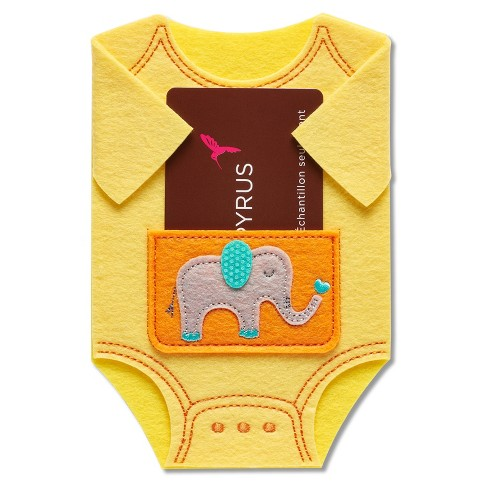 Papyrus Baby Bodysuit Gift Card Holder Box Target