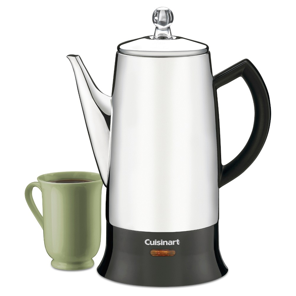 Cuisinart Classic 12-Cup Percolator – Stainless Steel Prc-12, Grey/Black 21398017