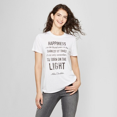 44a0ed812a Women s Harry Potter Short Sleeve Dumbledore Quote Graphic T-Shirt  (Juniors ) White