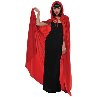 Adult Hooded Cape Halloween Costume Red
