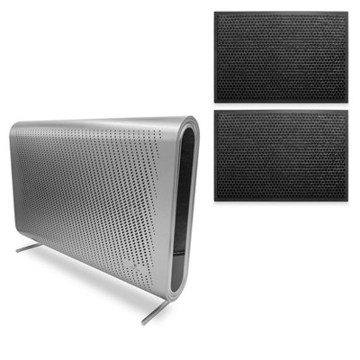 Medify Air MA-35-S1 Medical Grade H13 HEPA Wall Mounted Silver Air Purifier Bundle with MA-35 Home Air Purifier H13 HEPA Replacement Filters (2 Pack)