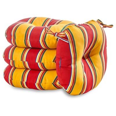 "4pk 18"" Carnival Stripe Outdoor Bistro Chair Cushions - Kensington Garden"