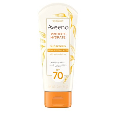 Sunscreen & Tanning: Aveeno Protect+Hydrate