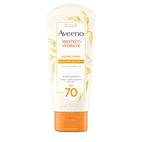 Aveeno Protect+Hydrate Sunscreen Lotion - SPF 70 - 3oz - image 1 of 11