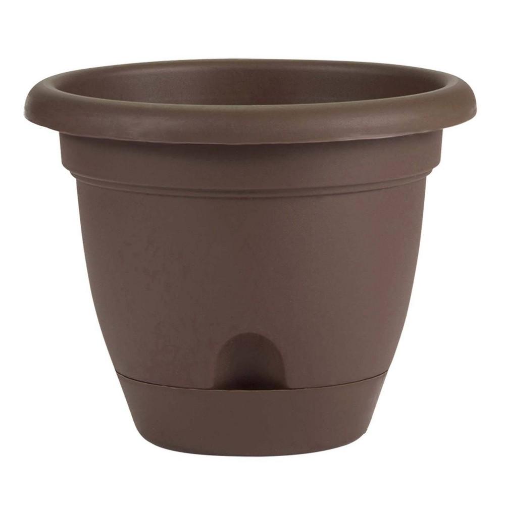12 34 Lucca Self Watering Planter Chocolate Bloem