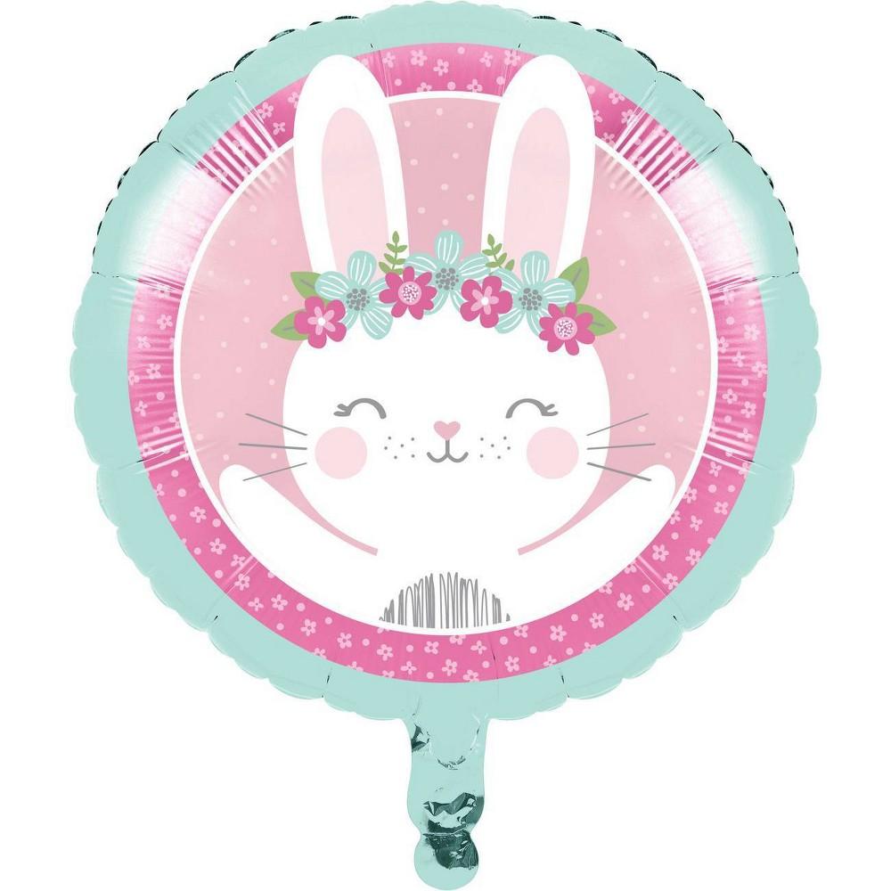 Bunny Print Mylar Party Balloon