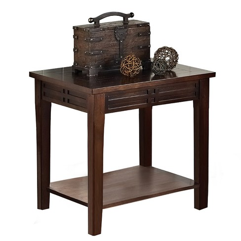Crestline Chairside End Table Mocha Cherry - Steve Silver - image 1 of 1