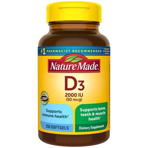 Nature Made Vitamin D3 2000 IU (50 mcg) Softgels  - image 1 of 4