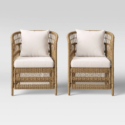 Mulberry 2pk Patio Chair - Natural - Threshold™