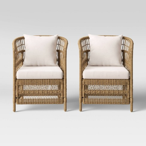 Mulberry 2pk Patio Chair - Natural - Threshold™ - image 1 of 4