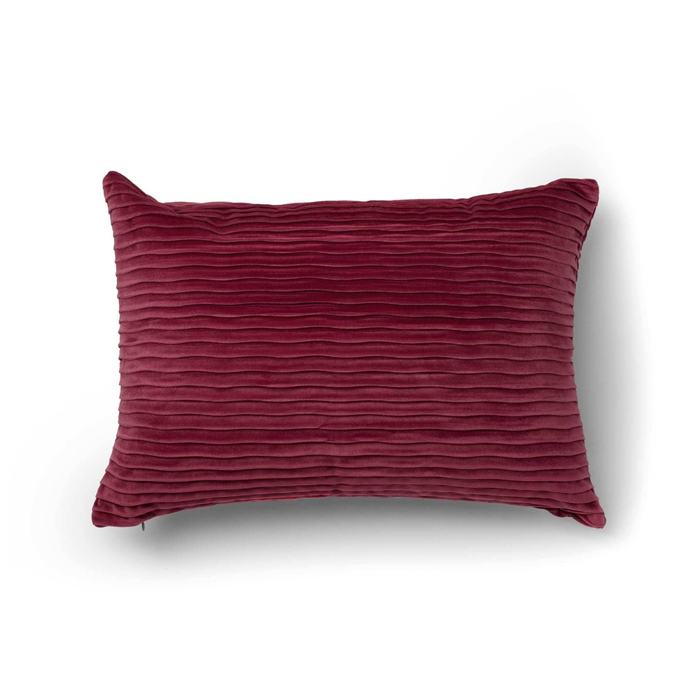 "Image of ""14""""x20"""" Oza Decorative Throw Pillow Red - SureFit"""