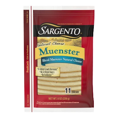 Sargento Natural Muenster Sliced Cheese - 8oz/11 slices