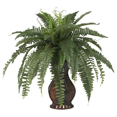 Nearly Natural Boston Fern w/Urn Silk Plant - image 1 of 1