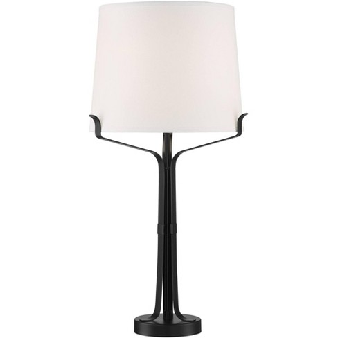 Franklin Iron Works Benny Black Industrial Table Lamp With Built In Usb Port Target