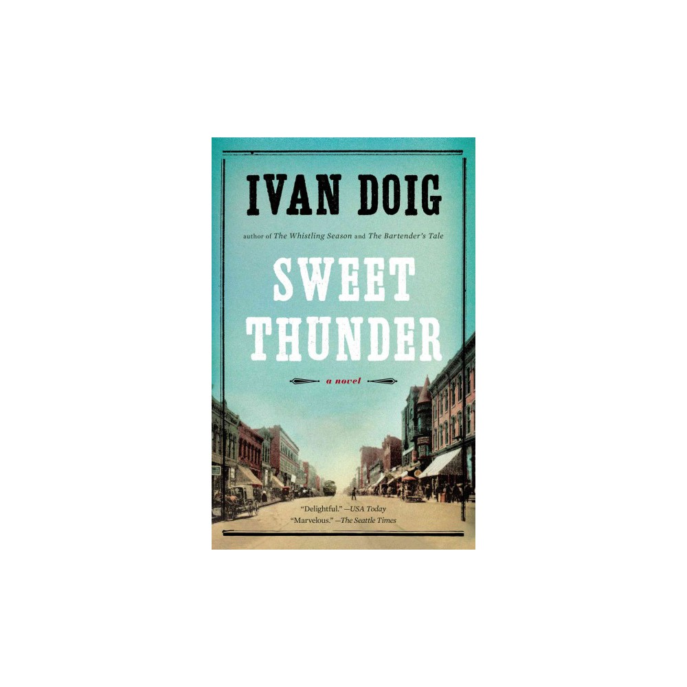 Sweet Thunder (Reprint) (Paperback) A beloved character brings the power of the press to 1920s Butte, Montana, in this latest from the best storyteller of the West In the winter of 1920, a quirky bequest draws Morrie Morgan back to Butte, Montana, from a year-long honeymoon with his bride, Grace. But the mansion bestowed by a former boss upon the itinerant charmer, who debuted in Doig?s bestselling The Whistling Season, promises to be less windfall than money pit. And the town itself, with its polyglot army of miners struggling to extricate themselves from the stranglehold of the ruthless Anaconda Copper Mining Company, seems?like the couple?s fast-diminishing finances?on the verge of implosion. These twin dilemmas catapult Morrie into his new career as editorialist for the Thunder, the fledgling union newspaper that dares to play David to Anaconda?s Goliath. Amid the clatter of typewriters, the rumble of the printing presses, and a cast of unforgettable characters, Morrie puts his gift for word-slinging to work. As he pursues victory for the miners, he discovers that he is enmeshed in a deeply personal battle as well?the struggle to win lasting love for himself. Brilliantly capturing an America roaring into a new age, Sweet Thunder is another great tale from a classic American novelist.
