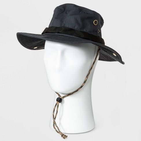 Men's Ripstop Bonnie Hat - Goodfellow & Co™ Black - image 1 of 3