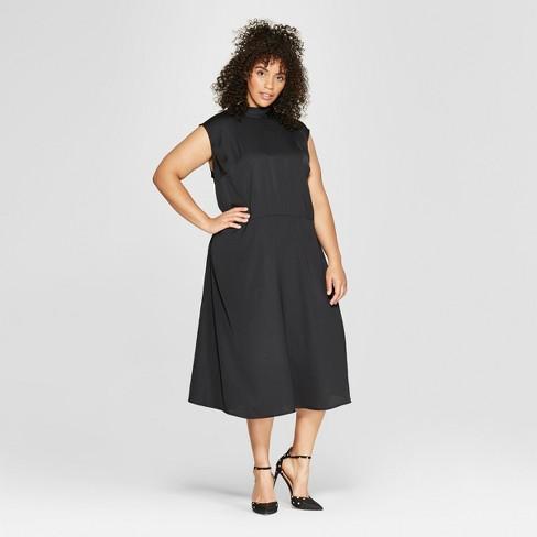 Women\'s Plus Size Tie Back Neck Column Midi Dress - Who What Wear ...