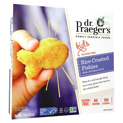 Dr. Praeger's Gluten Free Rice Crusted Fishies - 10oz
