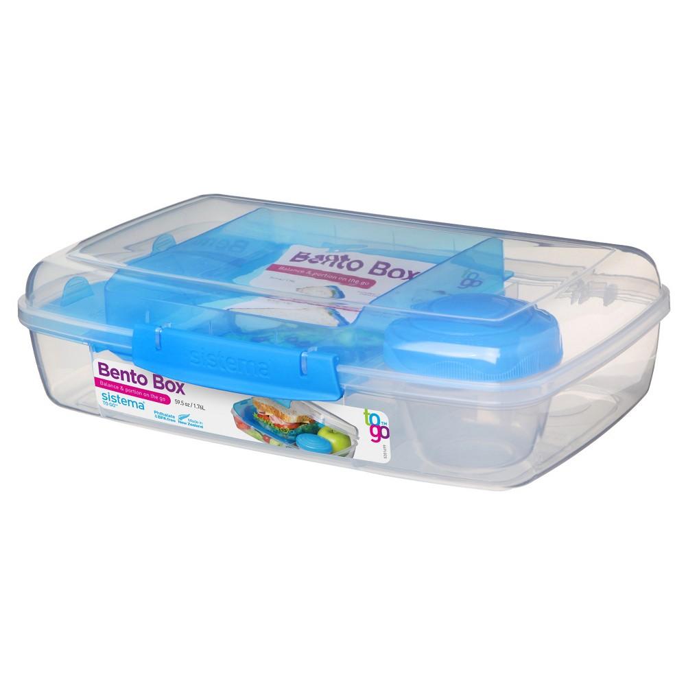 Sistema Food Storage Bento Box - 59.5oz, Multi-Colored
