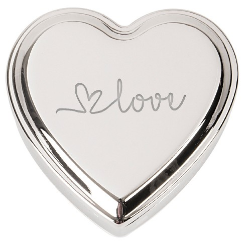 Valentine's Love Silver Heart Keepsake Box - image 1 of 3